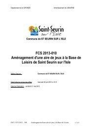 dce amenagement aire de jeux base de loisirs - Saint-Seurin-sur-l'Isle
