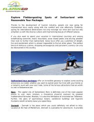 Explore Flabbergasting Spots of Switzerland with Reasonable Tour Packages