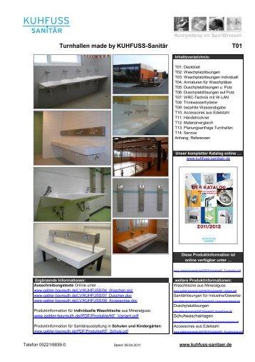 Turnhallen made by KUHFUSS-Sanitär T01 -  Gabler Bauspezialartikel