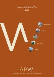 Rapport d'activité 2007 - APW