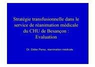 Stratégie Transfusionnelle en Réanimation