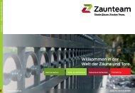 Zaunteam Hauptkatalog Zäune und Tore Deutschland