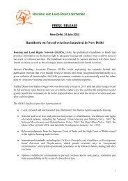 24 July 2013, Press Release: HLRN Handbook on ... - hic-sarp.org