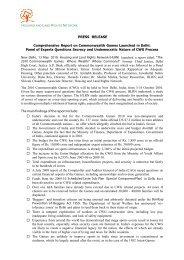 PRESS RELEASE Comprehensive Report on ... - hic-sarp.org