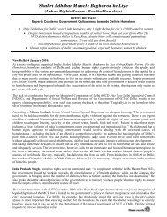 Shahri Adhikar Manch: Begharon ke Liye - hic-sarp.org