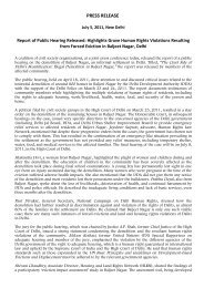 July 5, 2011, Press Release: Report of Public Hearing ... - hic-sarp.org