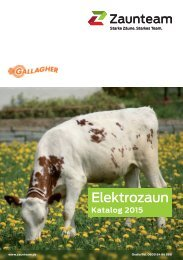 Zaunteam- Elektrozaun Katalog Deutschland 2015