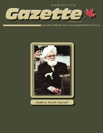 Jan Feb 2010 - Ahmadiyya Gazette Canada