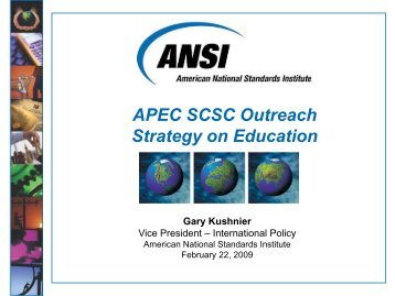 ANSI Presentation Template - APEC Standards Education Initiative