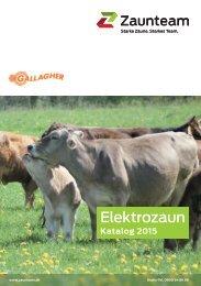 Zaunteam Elektrozaun Katalog Schweiz 2015
