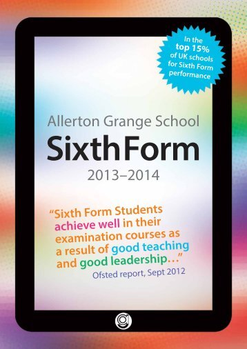 6th form prospectus - Eteach