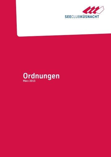 Ordnungen 2013 - Seeclub Küsnacht