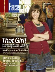 Movies, Series Sports, Specials - Mediacom