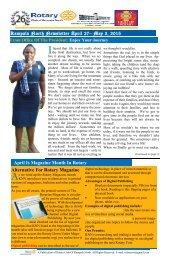 RC Kampala North Bulletin - April 27-May 3, 2015