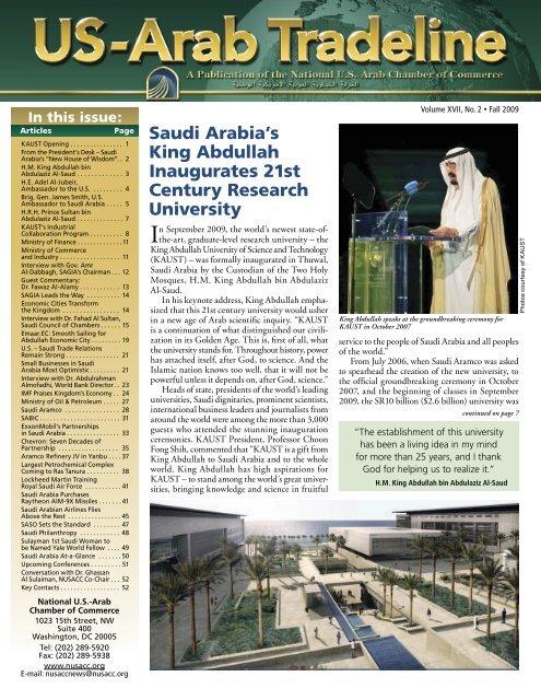 Saudi Arabia & KAUST - National US-Arab Chamber of Commerce