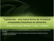 Liposomas - una nueva forma de incorporar compuestos bioactivos ...