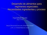 Impacto de los alimentos para regímenes especiales en la salud , la ...