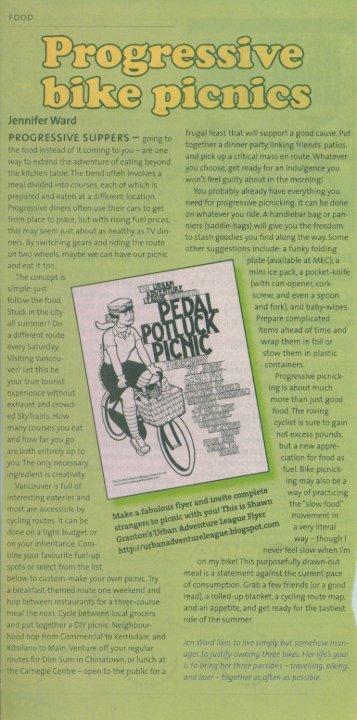 Progressive Bike Picnics - Jennifer Ward Barber