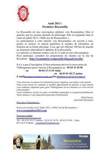 Première Rocastella - Les Amis de St Jacques > Provence - Alpes ...