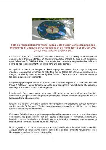 la suite : cliquer ICI - Les Amis de St Jacques > Provence - Alpes ...