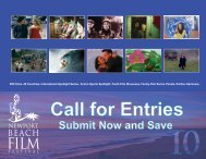 Call for entries deck.indd - Newport Beach Film Festival