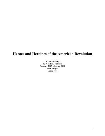 Heroes and Heroines of the American Revolution - Teaching ...