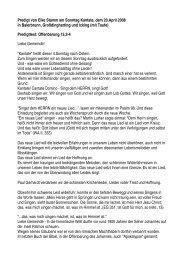 20. April Kantate - Isartal Gemeinden