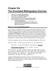 Chapter Six The Annotated Bibliography Exercise - Steven D. Krause