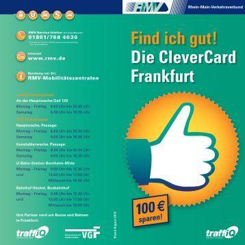 Find ich gut! Die CleverCard Frankfurt - traffiQ