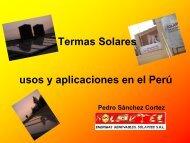 Energías Renovables Termas Solares usos y aplicaciones ... - Fonam