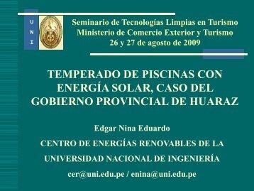 Seminario de Tecnologías Limpias en Turismo Ministerio ... - Fonam