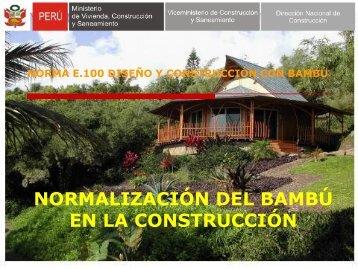 norma e.100 diseño y construcción con bambú - Fonam