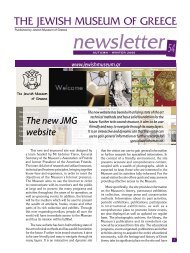 JMG news 54.indd - Jewish Museum of Greece