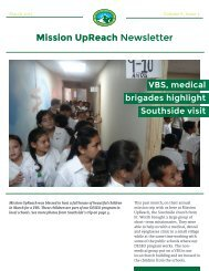 Mission UpReach Newsletter - March 2015