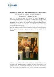 Participación exitosa de la Delegación Peruana en la ... - Fonam