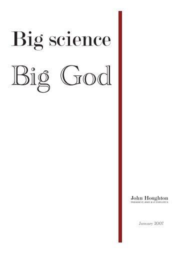 Big science big God