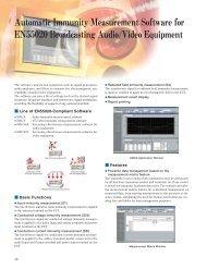 EMC Measurement Software for Audio or video (PDF)