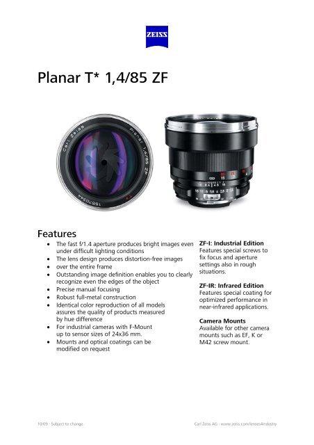 Planar T*1, 4/85 ZE - Uniforce Sales and Engineering