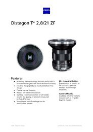 Distagon T*2, 8/21 ZE - Uniforce Sales and Engineering