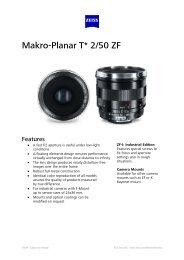 Makro-Planar T* 2/50 ZE - Uniforce Sales and Engineering