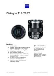 Distagon T*2, 28 ZE - Uniforce Sales and Engineering