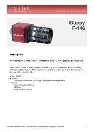 Description - Allied Vision Technologies