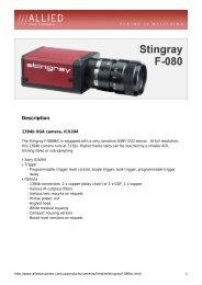 Stingray F-080 Datasheet - Covistech.com