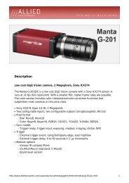 Manta G-201 Datasheet - Covistech.com