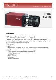 Pike F-210 Datasheet - Covistech.com