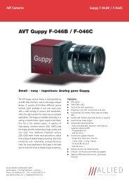 AVT Guppy F-046B / F-046C - Covistech.com