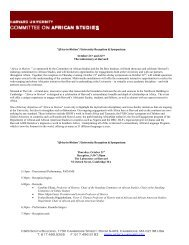 africa in motion program - W.E.B Du Bois Institute - Harvard University