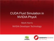 CUDA Fluid Simulation in NVIDIA PhysX - Parallel Computing for ...