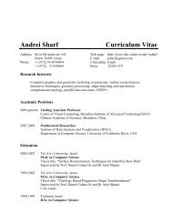 Andrei Sharf Curriculum Vitae - IDAV