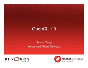 Introduction to OpenCL - Parallel Computing for Graphics
